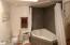 Master suite garden tub/ shower