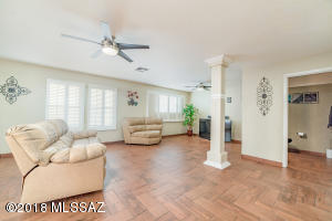 2nd Family room off kitchen