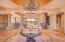 Stunning Foyer w/ Cantera Pillars and Painted Dome Ceiling.
