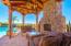Inviting Ramada at Pool w/ Stunning Rock Fireplace, Storage and Bathroom.