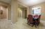 Dining room looking towards fron hallway