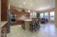 Gourmet kitchen with breakfast nook