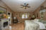Beautiful master suite with vaulted ceiling, more niches, another fireplace (electric), and loads of charm.