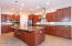 Gourmet kitchen with upgraded stainless steel GE Profile appliances