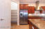 Walk in pantry and counter depth side by side refrigerator