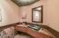 Powder room w/ beautiful glass sink