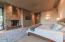 Built-in gas fireplace; exit to private patio