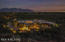 City lights to the south horizon, Catalina Mtns to the east