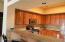 Beautiful granite and alder cabinets