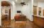 TV area in breakfast room
