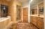 Double sinks , Alder wood cabinets