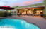 Enjoy entertaining or dinner for 2 with stunning sunset views from this backyard with pool.