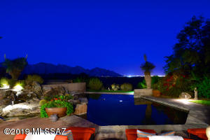 Simply amazing mountain and city light views for enjoyment from your high rear south-facing patio.