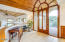 So many architectural elements in the stunning home