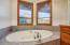 Soaking tub overlooking those mtn views