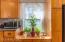 Window Seat/Plant Shelf with storage below .