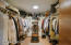 Walk-in master closet with great space