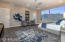 Spacious master suite with views!
