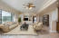 Virtually Staged - Family Room off Master Suite can double as rec room.