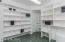 Master Suite Walk-in Closet w/ shelving