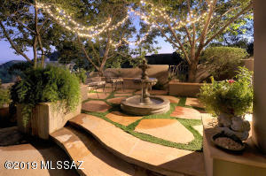 FLAGSTONE PATIO AND FOUNTAIN