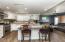 Brand new kitchen with quartz counter-tops.