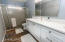 The bathrooms were both recently upgraded with quartz counter-tops and medicine cabinets.