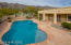 Pool with security fence with fabulous Catalina Mountain views.