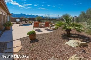 Large Backyard with Mountain View