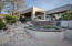 Lushly landscaped terraced patio