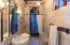 Master Bathroom that looks like it belongs in a Castle.... & Stone Walls & Stone Floor