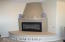 Gas log fire place