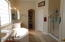 Two walk in closets and separate water closet area