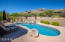Resort-like setting w/ Heated Pool & Spa and waterfall w/ Catalina Mts as a backdrop.