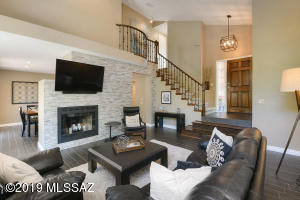 Comfortable and open, the family room is a great place to entertain and relax