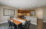 Dining area off kitchen with breakfast bar