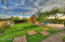 """""""Grass"""" vegetable garden, play area."""