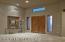 Beautiful art niche - note travertine floors