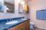 Corian dual vanity in master bath