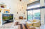 Great room / beehive fireplace