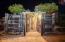 Back entrance to underground wine cellar