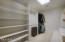 Master closet is very spacious with great built in areas.