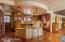 Angled kitchen island