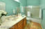 Newer Glass Tub/Shower Enclosure-Newer Toilet-Tile Flooring