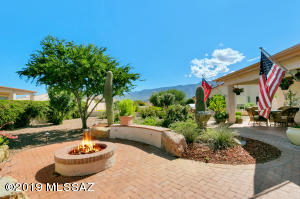 Enjoy watching the moon come up over the mountains from your backyard patio with gas firepit.