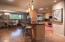 Open floor plan to kitchen