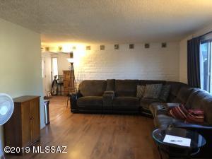 Family room w/wood floor