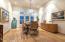 FORMAL DINING ROOM W/HARDWOOD FLOORS & PLANTATION SHUTTERS