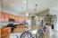 Full on of kitchen w/granite counter