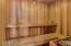 Full size sauna in master bath.